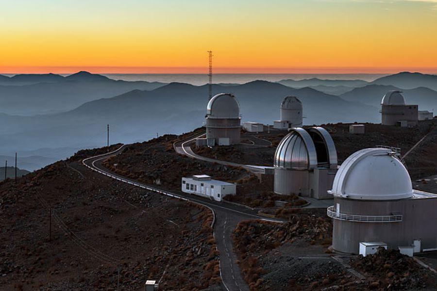 Sunset panorama at La Silla