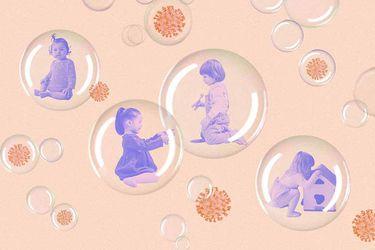 Visitas y abrazos limitados: Cómo es tener una guagua burbuja nacida en pandemia