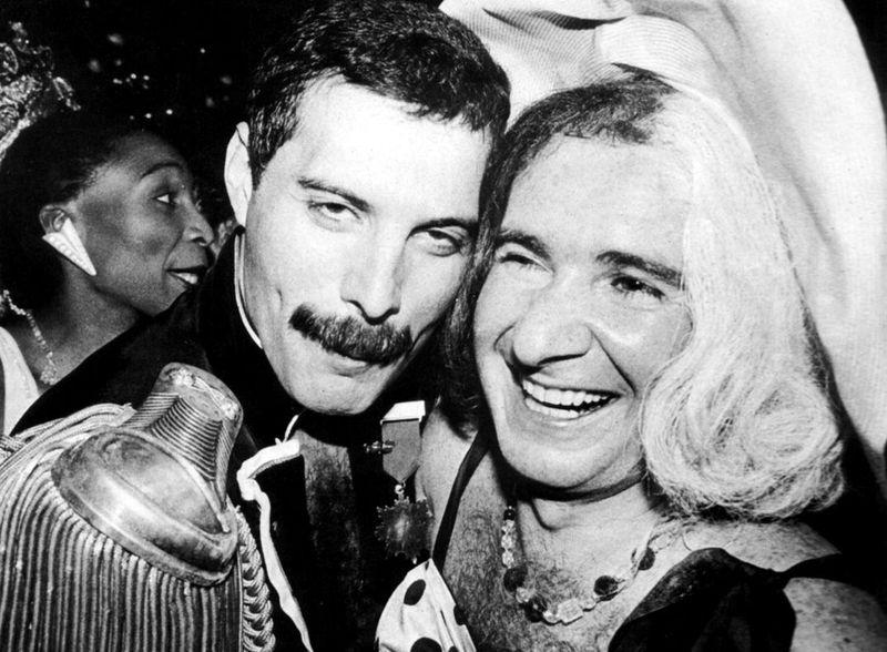 Freddie Mercury y John Reid, 1985.