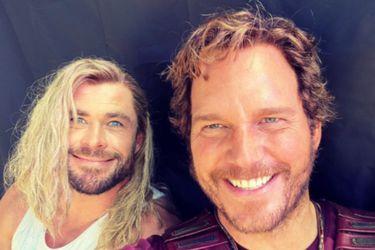 Chris Hemsworth compartió una foto de Thor y Star-Lord en el detrás de escenas de Thor: Love and Thunder