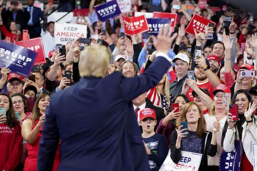 FILE PHOTO: Trump holds a campaign rally in Milwaukee, Wisconsin