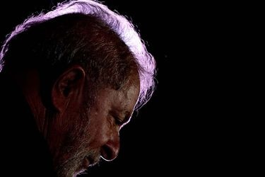 Former president Luis Inacio Lula da Silva rattends an event in support of his candidacy for president in Sao Paulo