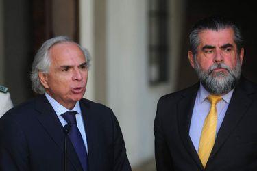 visa Sur Ministro del Interior Mario Fernandez recibe al futuro ministro del Interior Andres Chadwick