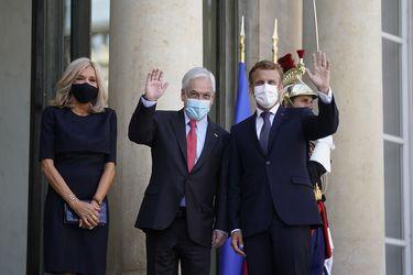 Presidente Piñera se reúne en París con Emmanuel Macron: Mandatario francés manifiesta apoyo a proceso constituyente y valora la paridad de género