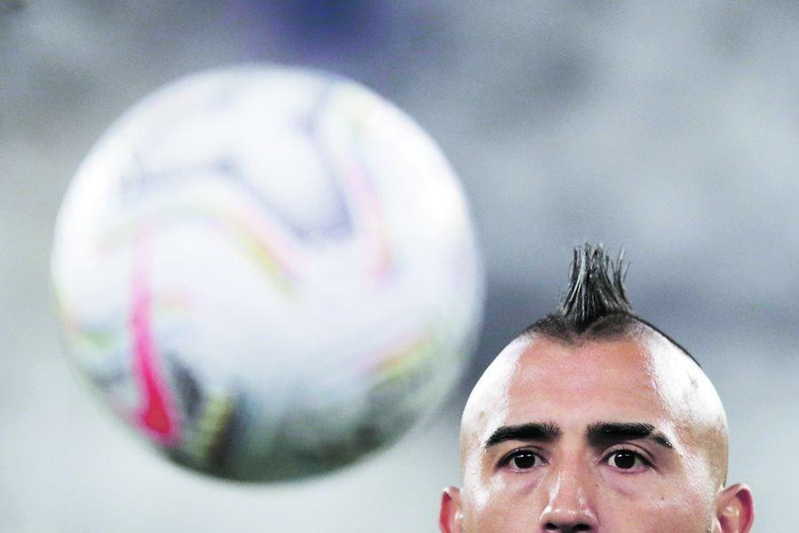 Un primer plano de Arturo Vidal en la Copa América de Brasil, donde volvió a jugar después de un largo tiempo inactivo por problemas físicos. FOTO: Reuters.