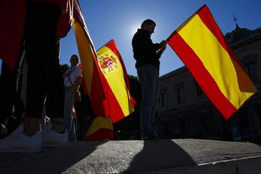 Pro National Unity March As Spain Quashes Catalan Sovereignty
