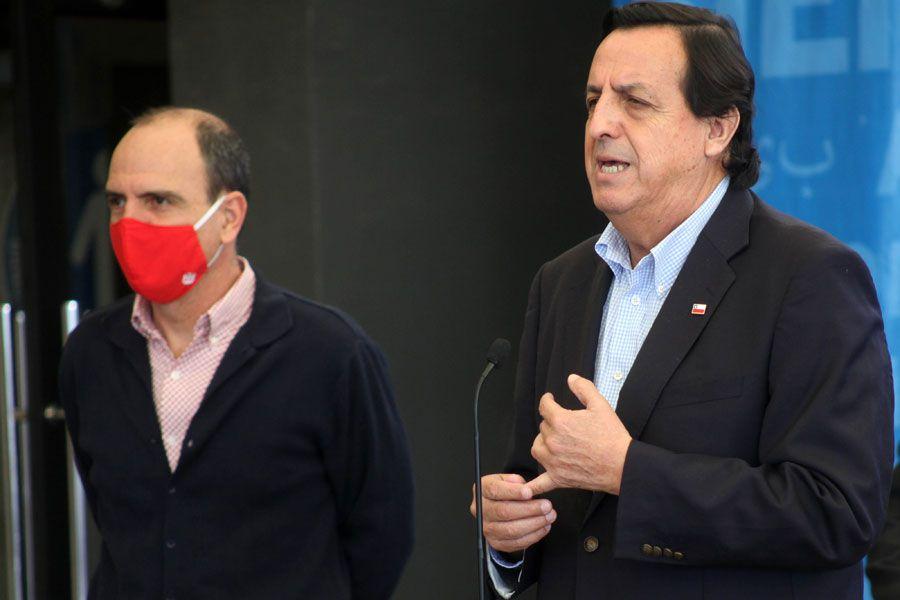 Cristián Monckeberg, ministro secretario general de la Presidencia, y Víctor Pérez, ministro del Interior.