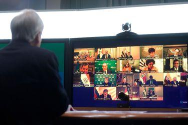 Piñera participa en reunión virtual con líderes de España y América Latina para abordar situación económica producto de la pandemia del Covid-19
