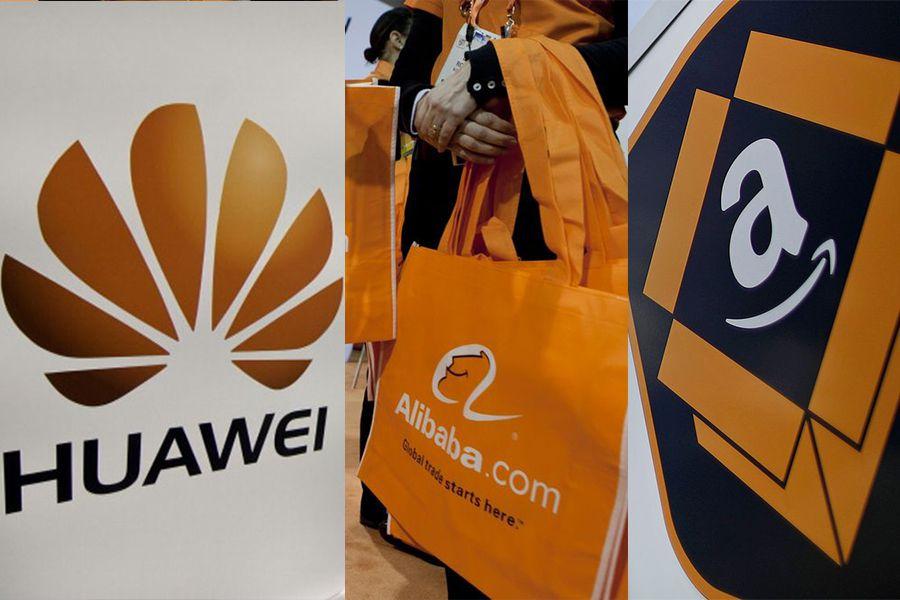 huawei, Alibaba y Amazon