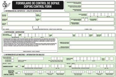 La letra chica de los formularios antidopaje