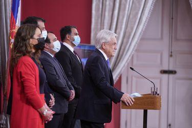 El Presidente Piñera anuncia el estado de emergencia para Macrozona Sur. Foto: Presidencia