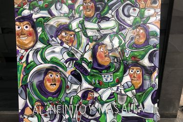 Las películas de Pixar se convierten en pinturas en exposición benéfica