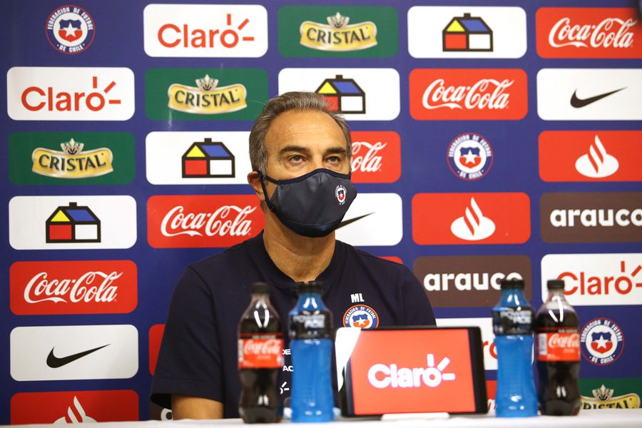 El nuevo seleccionador de la Roja, Martín Lasarte, en la conferencia de prensa previa al duelo ante Bolivia.