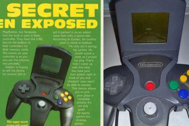 Un prototipo del control de Nintendo 64 incluía su propia pantalla