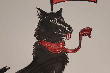 """El creador de """"El Cuervo"""" apoyó a los chilenos con un dibujo del """"Negro matapacos"""""""