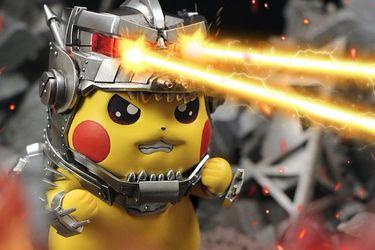 Pikachu se convierte en Mechagodzilla en figura de Hard Shell Studios