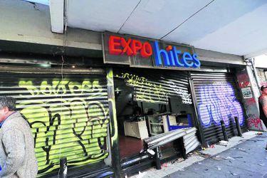 VALPARAISO: Daños en edificios del centro de la ciudad. 20/10/2019