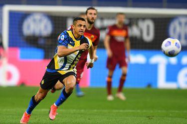 Alexis Sánchez se lesionó en el partido entre el Inter y la Roma por la Serie A.