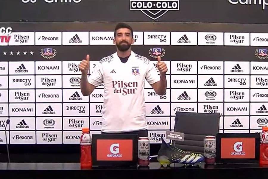 Emiliano Amor fue presentado como nuevo refuerzo de Colo Colo.