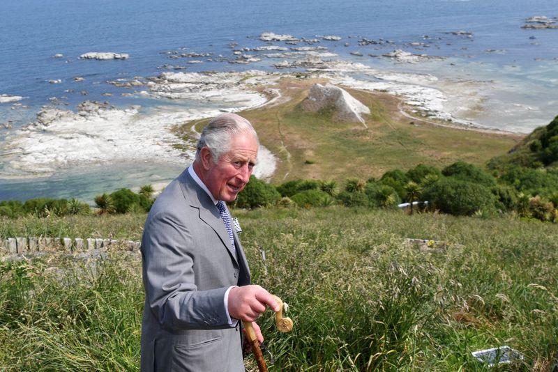 Britain's Prince Charles visits New Zealand