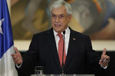 Sebastian Piñera realiza punto de prensa