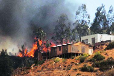 Intendente acusa intencionalidad en incendios en V Región