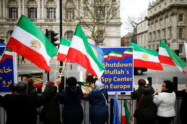 Protestas en Londres contra Irán