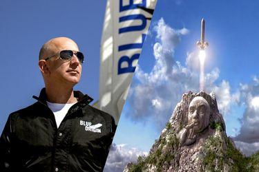 Naturalmente ya están comparando al vuelo de Blue Origin de Jeff Bezos con el cohete de Austin Powers 2