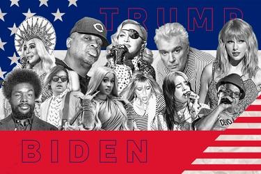 ¿Trump o Biden?: Chuck D, Billie Eilish, David Byrne, Kim Gordon y otros músicos responden