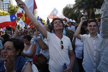 Celebran triunfo de Sebastian PIñera en Elecciones 2017.