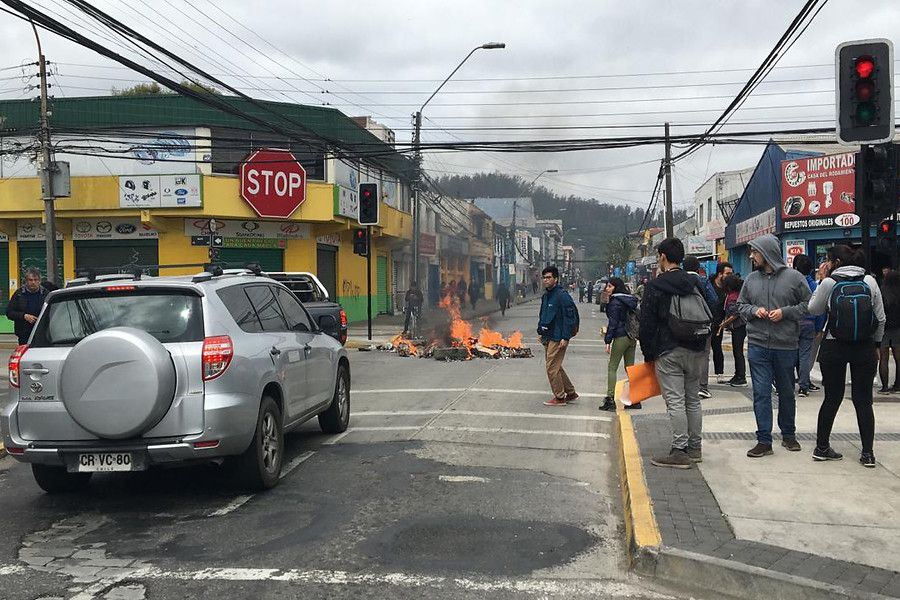 Barricada en Concepcion