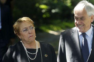 Michelle Bachelet y Sebastián Piñera