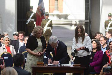 El presidente Sebastian Piñera participa de la presentación de la agenda de equidad de género del Gobierno