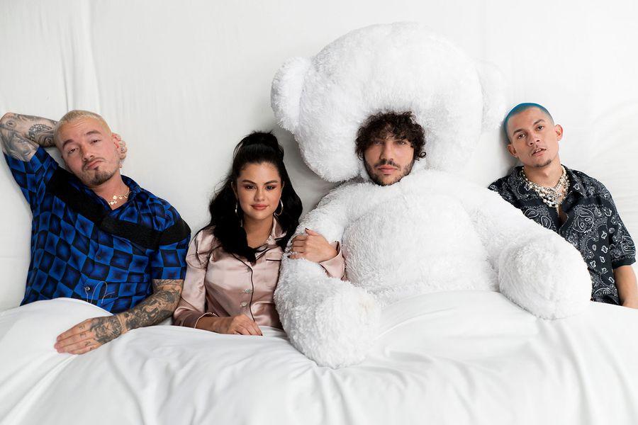 benny-blanco-Tainy-Selena-Gomez-and-J-Balvin-press-billboard-1548