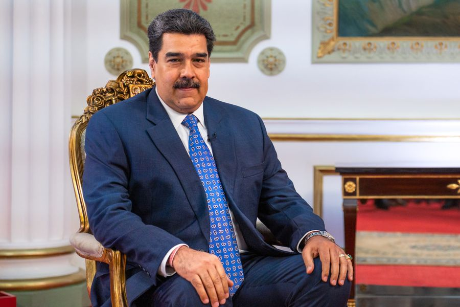 Nicolás Maduro, presidente de Venezuela, durante una entrevista con Bloomberg Television en Caracas