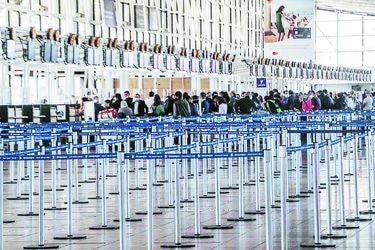 La violenta caída del tráfico de pasajeros en Nuevo Pudahuel