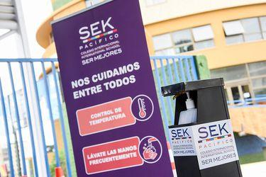Colegio en Las Condes dio inicio hoy a su año escolar con clases presenciales