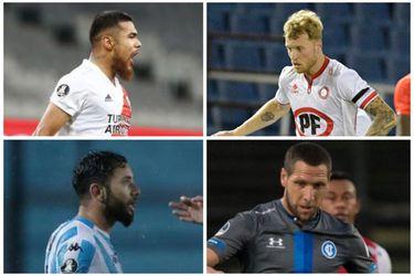 Mena, Díaz, Rodríguez y Aued fueron incluidos en los equipos ideales de la semana de copas