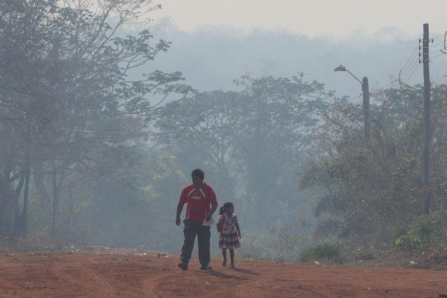 Los incendios golpean la Chiquitanía boliviana. FOTO: EFE