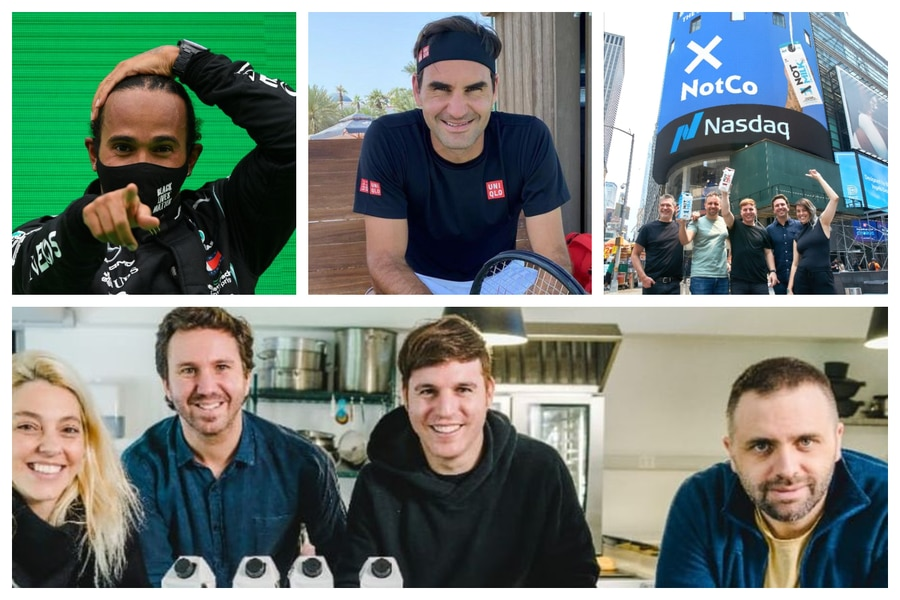 Notco tiene como inverionistas a Federer y Lewis Hamilton. Su valor alcanza los US$ 1.500 millones
