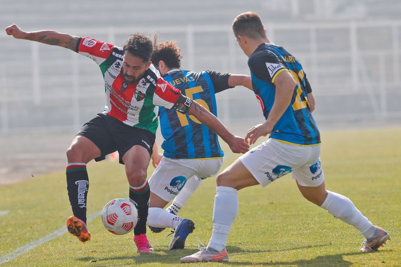 Luis Jiménez, en el partido ante Huachipato, por el Campeonato Nacional