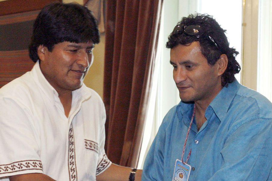 Etcheverry y Evo Morales