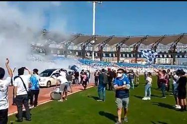 Hinchas de Antofagasta rompen la cuarentena para despedir a Sergio Marchant