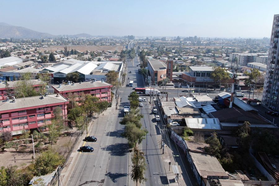 Vista aérea de la comuna de El Bosque.