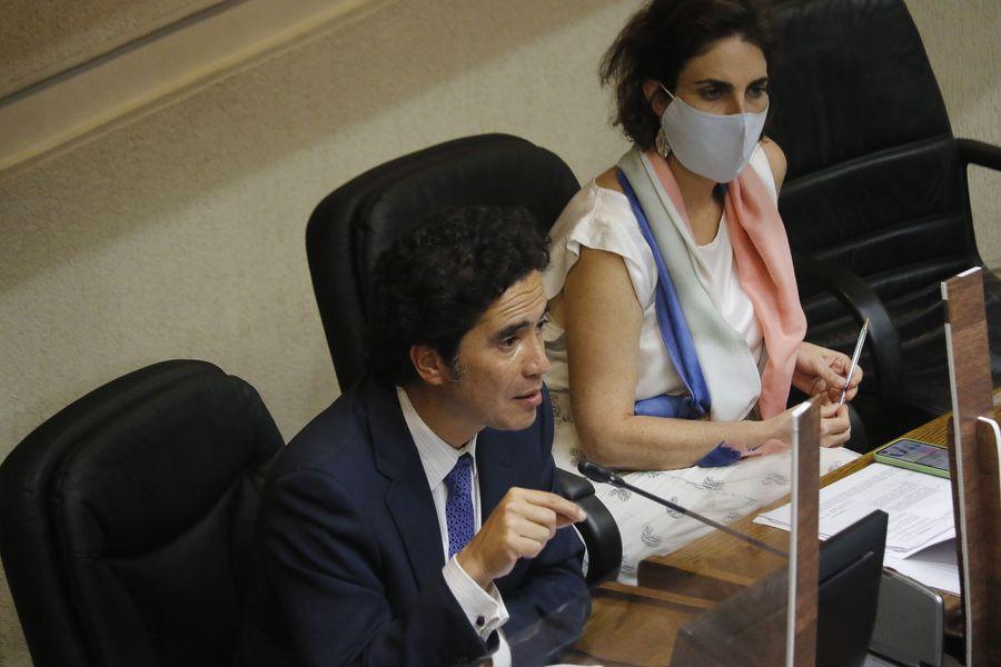 Ignacio Briones y María José Zaldívar.