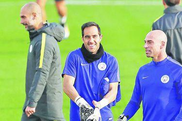 Josep Guardiola, Claudio Bravo y Willy Caballero