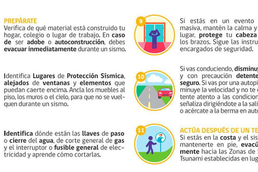como evacuar en caso de sismo