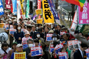 japoneses protestan