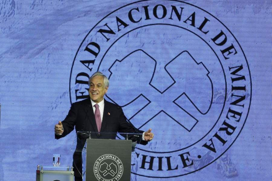 Sebastián Piñera, asiste a la Cena Anual de la Minería