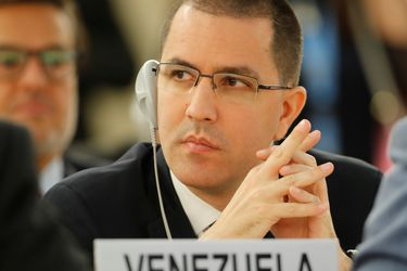 Venezuela's Foreign Minister Arreaza attends the Human Rights Council in Geneva